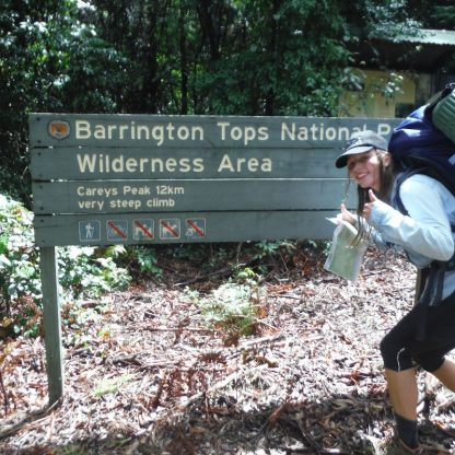 Sign showing the start of the Barrington Tops Bushwalking Adventure